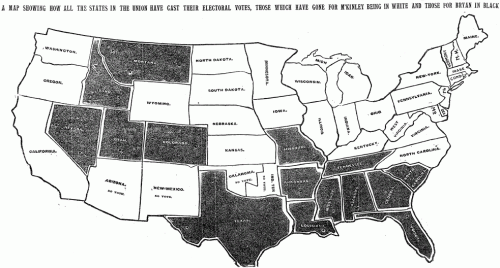 1896 Presidential Election Map
