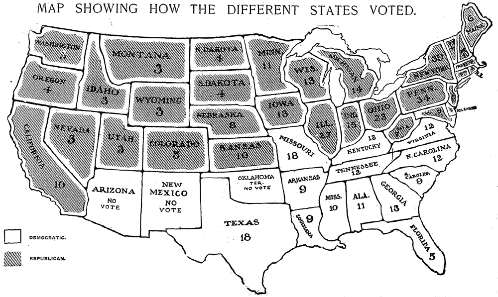 1904 Presidential Election Map